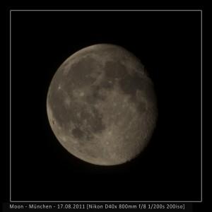 Der Mond über München