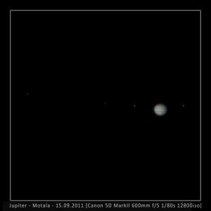 Jupiter von Motala/Schweden aus am 15.9.2011